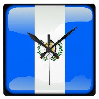 Bandera de Guatemala Reloj Cuadrado