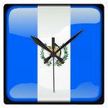 Bandera de Guatemala Reloj De Pared