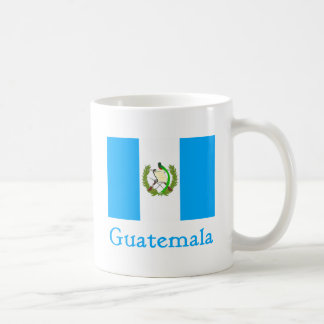 Bandera de Guatemala Taza Básica Blanca