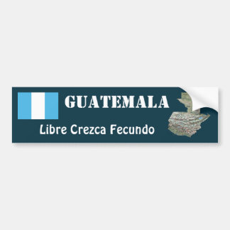 Bandera de Guatemala y pegatina para el parachoque Pegatina Para Auto