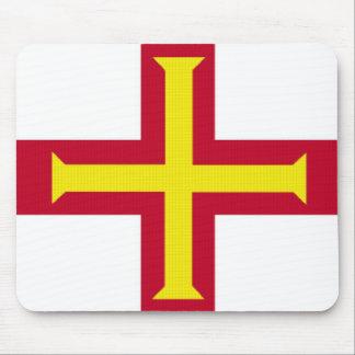 Bandera de Guernesey Alfombrillas De Ratones