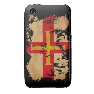 Bandera de Guernesey Funda Para iPhone 3
