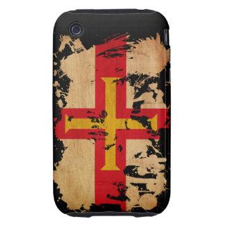 Bandera de Guernesey Funda Resistente Para iPhone 3