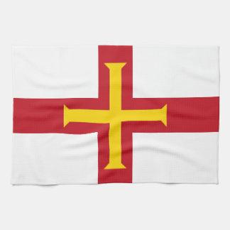 Bandera de Guernesey Toallas De Cocina