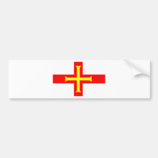 Bandera de Guernesey Pegatina Para Auto