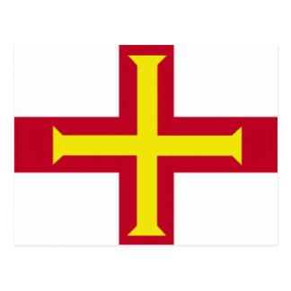 Bandera de Guernesey Tarjeta Postal