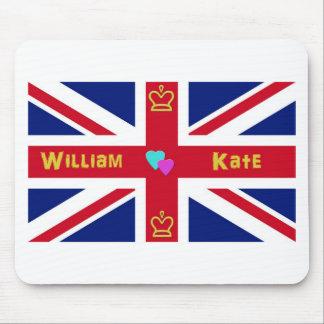 Bandera de Guillermo y de Kate Británicos Mouse Pads
