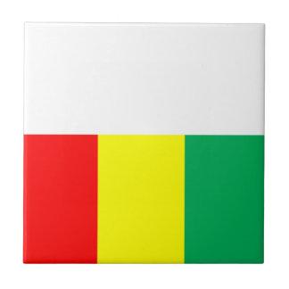 Bandera de Guinea Azulejo Cuadrado Pequeño