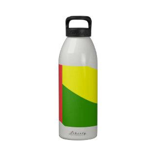 Bandera de Guinea-Bissau que agita Botellas De Beber
