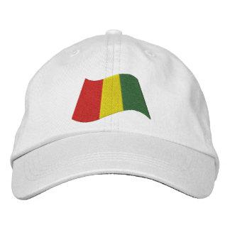 Bandera de Guinea Gorras De Beisbol Bordadas