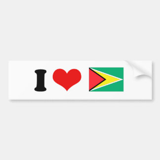 Bandera de Guyana Pegatina Para Auto