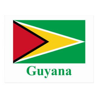 Bandera de Guyana con nombre Postal