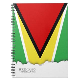 Bandera de Guyana Cuaderno