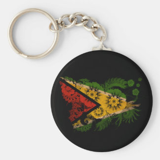 Bandera de Guyana Llavero Redondo Tipo Pin