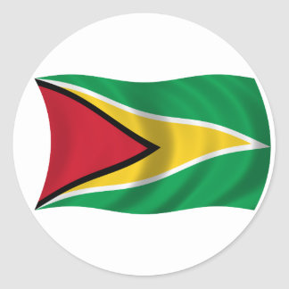 Bandera de Guyana Pegatinas Redondas