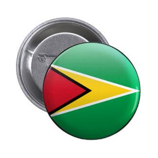 Bandera de Guyana Pin Redondo 5 Cm
