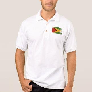 Bandera de Guyana Playeras Tipo Polo