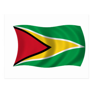 Bandera de Guyana Postales