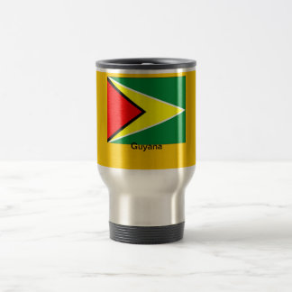 Bandera de Guyana Taza De Viaje De Acero Inoxidable