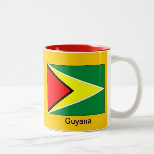 Bandera de Guyana Taza Dos Tonos