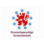 Bandera de habla alemana de la comunidad con nombr postal