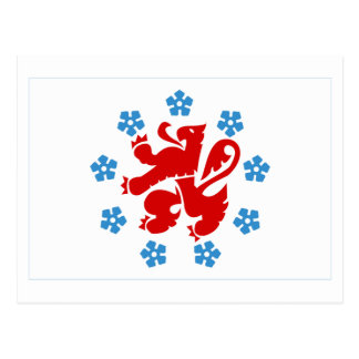 Bandera de habla alemana de la comunidad tarjeta postal