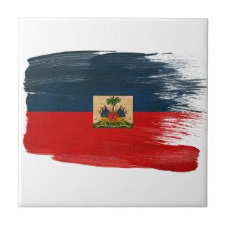 Bandera de Haití Azulejo Cuadrado Pequeño