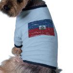 Bandera de Haití del vintage Camisetas De Perro