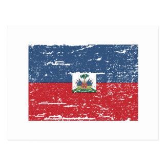 Bandera de Haití del vintage Postal