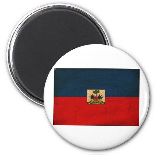 Bandera de Haití Imán Redondo 5 Cm