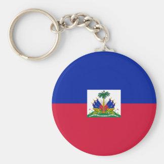 Bandera de Haití Llavero Redondo Tipo Pin