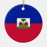 Bandera de Haití Ornamento De Navidad
