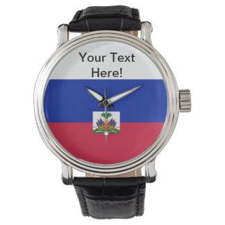 Bandera de Haití Reloj De Mano