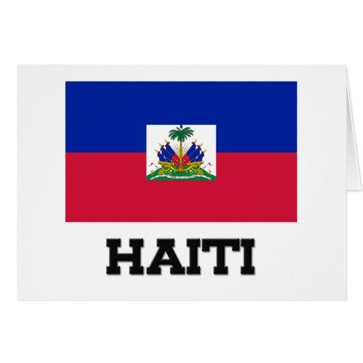 Bandera de Haití Tarjetón