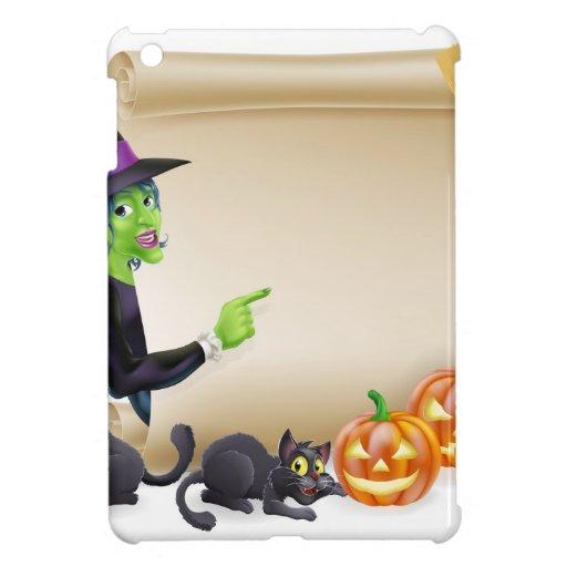 Bandera de Halloween de la voluta de la bruja