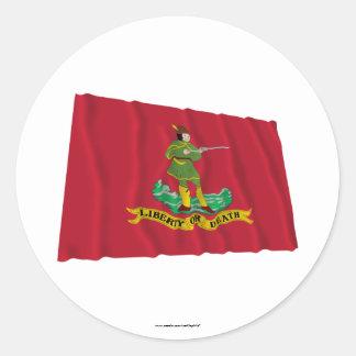 Bandera de Hannover Associators Pegatina Redonda