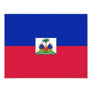 Bandera de Hatian Invitación Personalizada