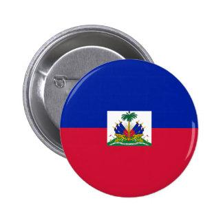 Bandera de Hatian Pin Redondo De 2 Pulgadas
