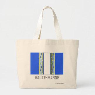 Bandera de Haute-Marne con nombre Bolsas De Mano