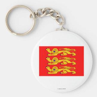 Bandera de Haute-Normandie Llavero Redondo Tipo Pin