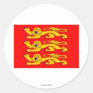 Bandera de Haute-Normandie Pegatina Redonda