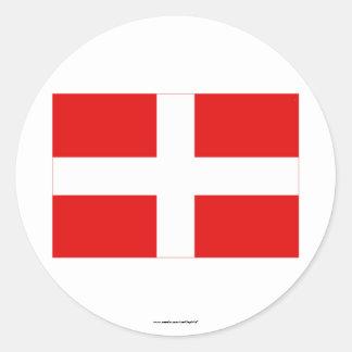 Bandera de Haute-Saboya Pegatina Redonda