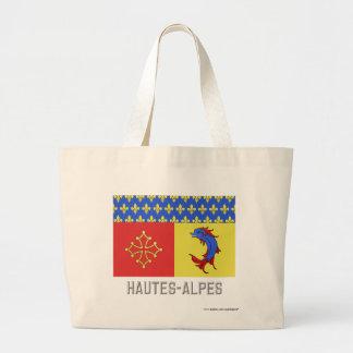 Bandera de Hautes-Alpes con nombre Bolsas De Mano