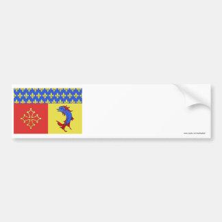 Bandera de Hautes-Alpes Pegatina Para Auto