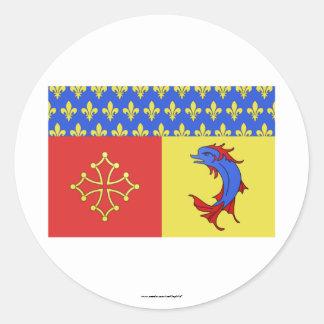 Bandera de Hautes-Alpes Pegatina Redonda