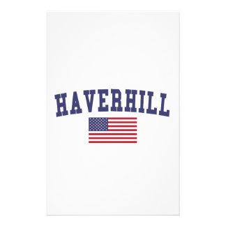 Bandera de Haverhill los E.E.U.U. Papeleria De Diseño