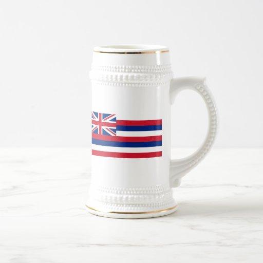 Bandera de Hawaii Jarra De Cerveza