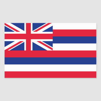 Bandera de Hawaii Pegatina Rectangular