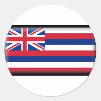 Bandera de Hawaii Pegatina Redonda