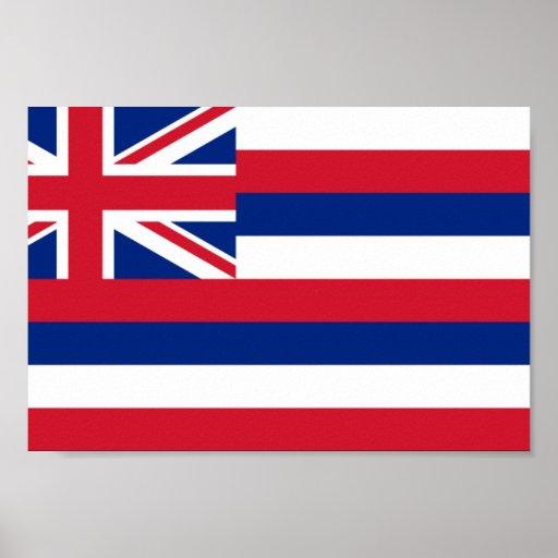 Bandera de Hawaii Póster